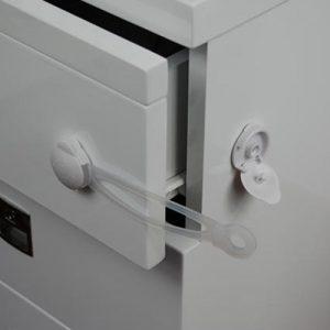 قفل کشو و کابینت کودک دکمه ای بزرگ نینیک 1