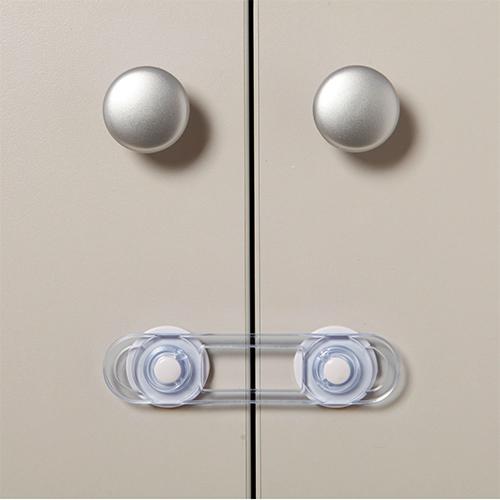قفل کابینت کودک شفاف کوچک چهارتایی 2