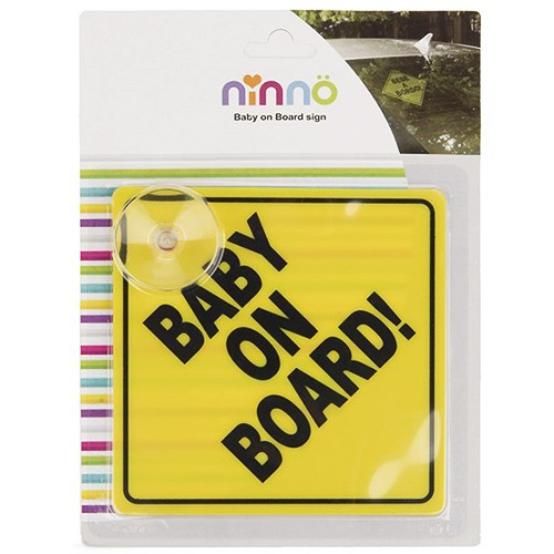 آویز هشدار کودک در ماشین نیننو - ninno baby on board