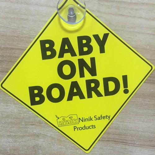 استیکر هشدار کودک در خودرو نی نی ک - ninik baby on board